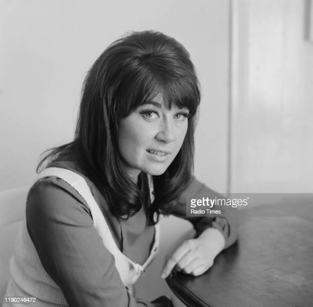 Actress Nerys Hughes interviewed at her home for the BBC television series 'The Liver Birds' May 1st 1972