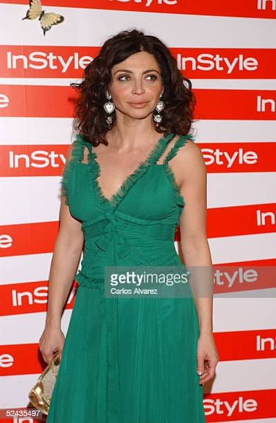 Actress Neus Asensi attends the In Style Gala Dinner at La Riviera Club on March 16 2005 in Madrid Spain