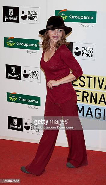 Actress Neus Asensi attends the International Magicians Festival at Circo Price Theatre on February 22 2012 in Madrid Spain