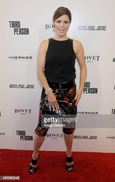 Actress Neve Campbell arrives at the Los Angeles premiere of 'Third Person' at Pickford Center for Motion Study on June 9 2014 in Hollywood California