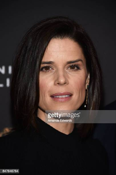 Actress Neve Campbell arrives at the Television Academy's Performers Nominee Reception at the Wallis Annenberg Center for the Performing Arts on...