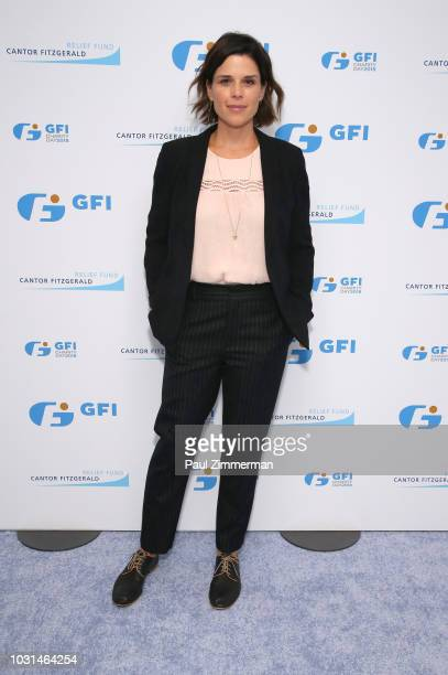 Actress Neve Campbell attends Annual Charity Day hosted by Cantor Fitzgerald BGC and GFI at GFI Securities on September 11 2018 in New York City