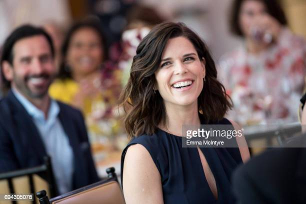 Actress Neve Campbell attends 'Los Angeles Confidential Women of Influence tea hosted by Neve Campbell' at Waldorf Astoria Beverly Hills on June 9...
