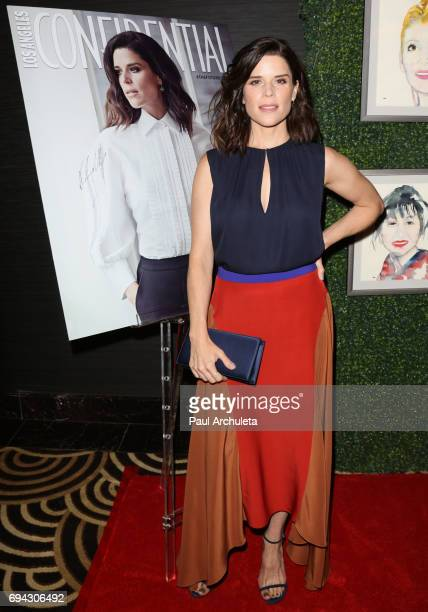 Actress Neve Campbell attends Los Angeles Confidential's 'Women Of Influence' tea party event at Waldorf Astoria Beverly Hills on June 9 2017 in...