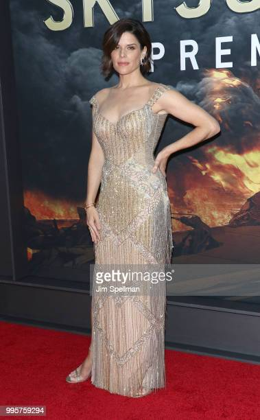 Actress Neve Campbell attends the 'Skyscraper' New York premiere at AMC Loews Lincoln Square on July 10 2018 in New York City