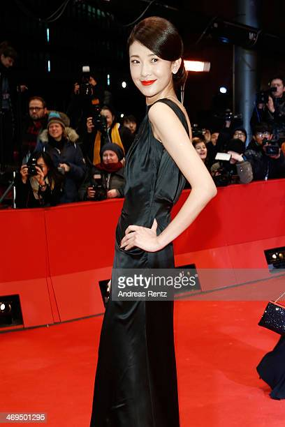 Actress Ni Jingyang arrives for the closing ceremony during 64th Berlinale International Film Festival at Berlinale Palast on February 15 2014 in...