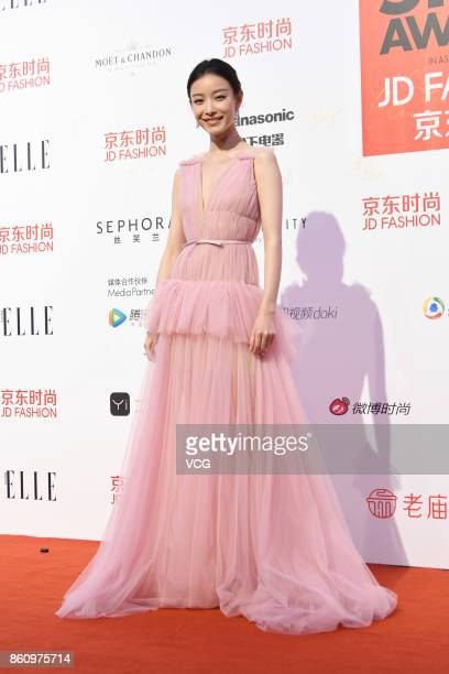 Actress Ni Ni arrives at red carpet for the ELLE Style Awards at Shanghai Exhibition Center on October 13 2017 in Shanghai China