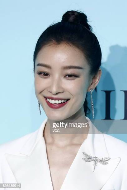 Actress Ni Ni arrives at the red carpet of Tiffany Co grand ceremony on June 8 2017 in Beijing China