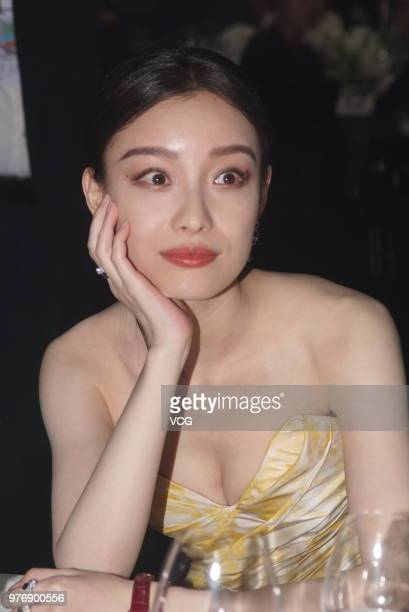 Actress Ni Ni attends JaegerLeCoultre banquet during the 21st Shanghai International Film Festival on June 16 2018 in Shanghai China