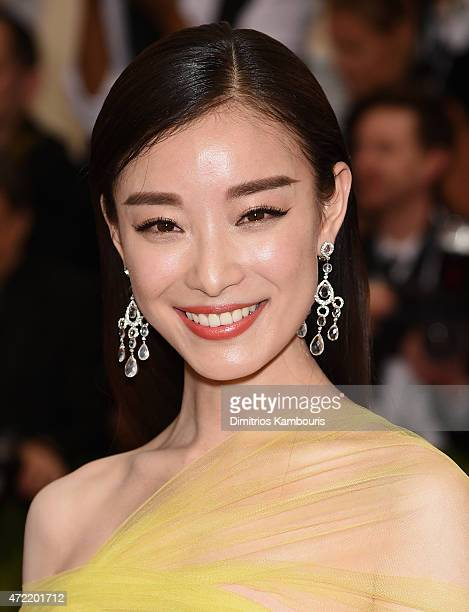 Actress Ni Ni attends the 'China Through The Looking Glass' Costume Institute Benefit Gala at the Metropolitan Museum of Art on May 4 2015 in New...