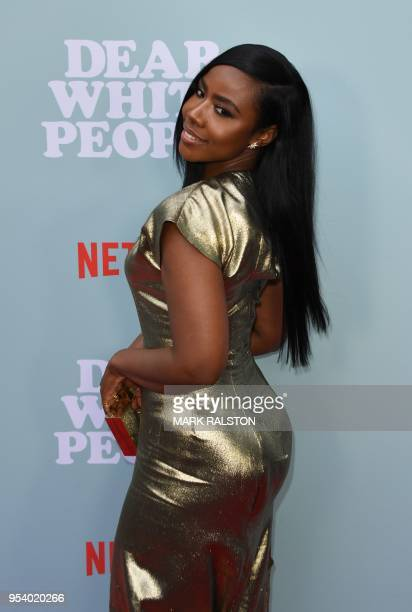 Actress Nia Jervier arrives for a special screening of Netflix's Dear White People Season 2 at the Arclight in Hollywood California on May 2 2018