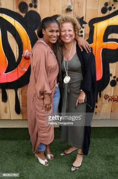 Actress Nia Long and Chairman/CEO of BET Debra Lee attend MANDAFEST Mandla Morris' 13th Birthday Celebration on May 20 2018 in Calabasas California