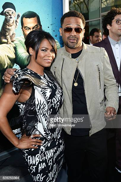 Actress Nia Long and Mike Epps attend a special presentation of Warner Bros' 'Keanu' at ArcLight Cinemas Cinerama Dome on April 27 2016 in Hollywood...