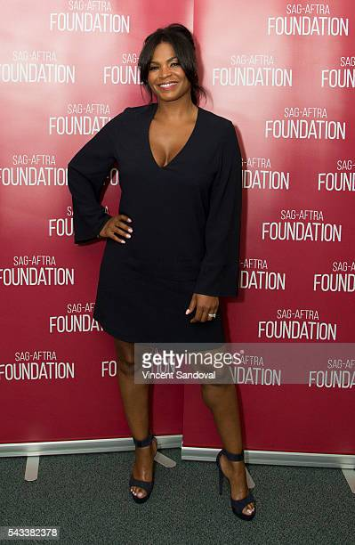 Actress Nia Long attends a career retrospective for SAGAFTRA Foundation Conversations at SAGAFTRA Foundation on June 27 2016 in Los Angeles California