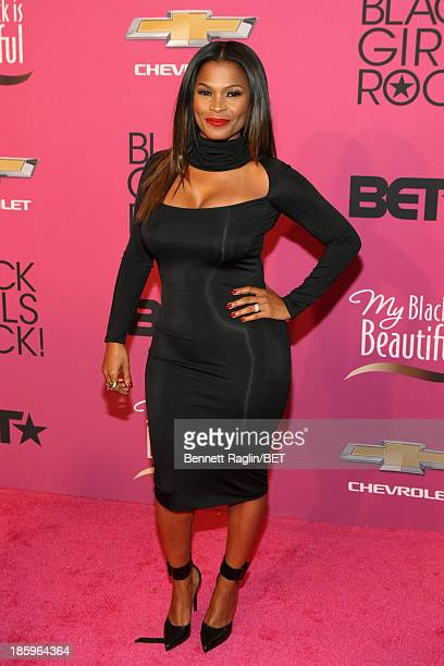 Actress Nia Long attends BET Black Girls Rock Red Carpet at New Jersey Performing Arts Center on October 26 2013 in Newark New Jersey