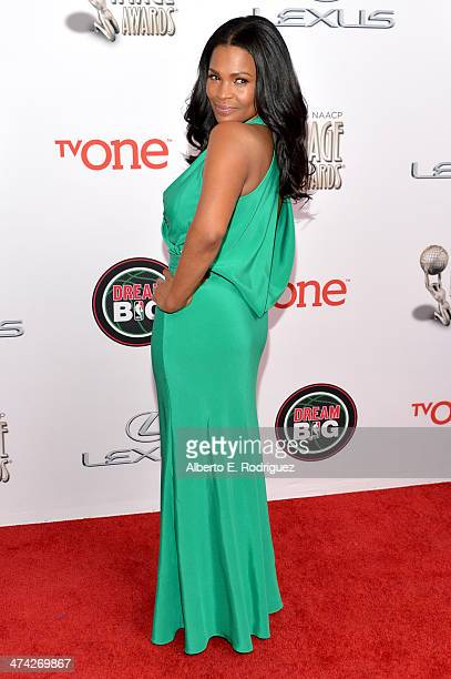 Actress Nia Long attends the 45th NAACP Image Awards presented by TV One at Pasadena Civic Auditorium on February 22 2014 in Pasadena California