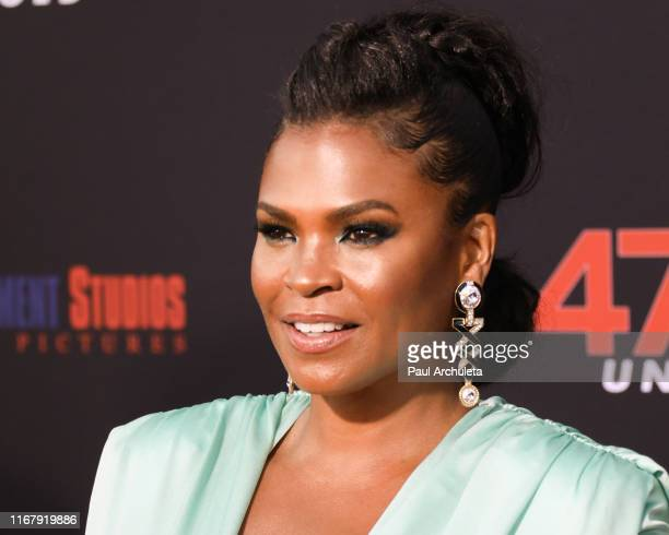 Actress Nia Long attends the LA premiere of 47 Meters Down Uncaged the at Regency Village Theatre on August 13 2019 in Westwood California