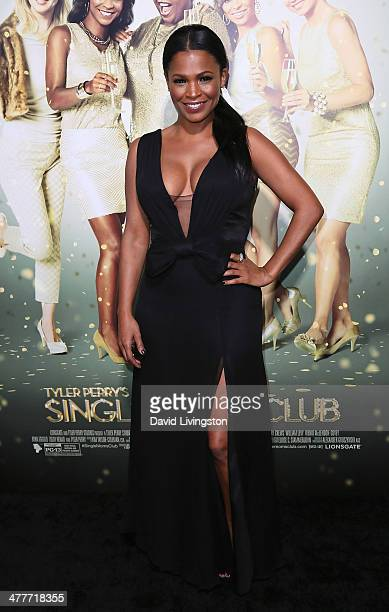 Actress Nia Long attends the premiere of Tyler Perry's 'The Single Moms Club' at the ArcLight Cinemas Cinerama Dome on March 10 2014 in Hollywood...