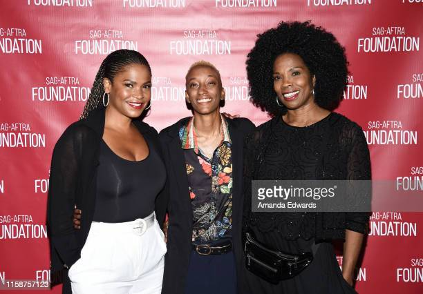 Actress Nia Long director Justice Singleton and actress Tyra Ferrell attend the SAGAFTRA Foundation's Game Changers Screening Series Boyz N The Hood...