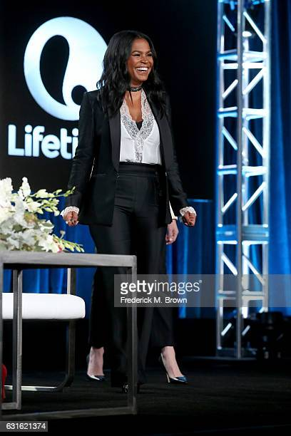 Actress Nia Long of the series 'Beaches' speaks onstage during the Lifetime portion of the 2017 Winter Television Critics Association Press Tour at...