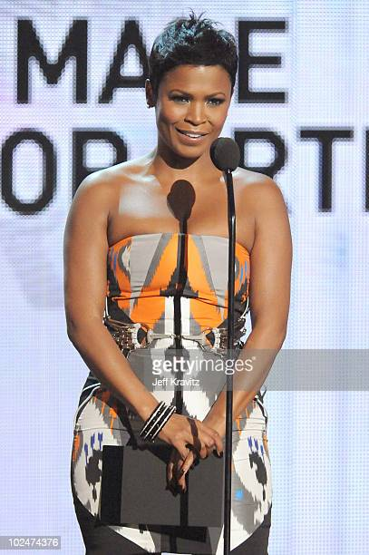 Actress Nia Long onstage during the 2010 BET Awards held at the Shrine Auditorium on June 27 2010 in Los Angeles California