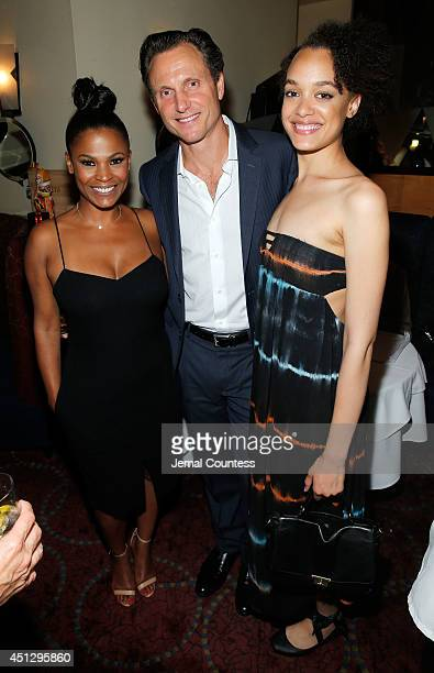 Actress Nia Long series creator/director Tony Goldwyn and actress Britne Oldford attend 'The Divide' series premiere after party at Circo on June 26...