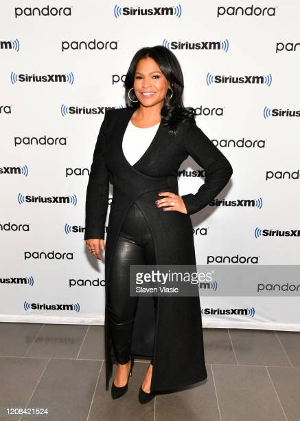 Actress Nia Long visits SiriusXM Studios on February 24 2020 in New York City