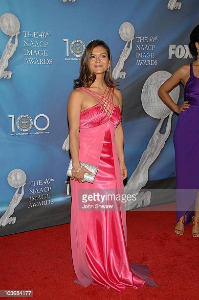 Actress Nia Peeples arrives at the 40th NAACP Image Awards at the Shrine Auditorium on February 12 2009 in Los Angeles California