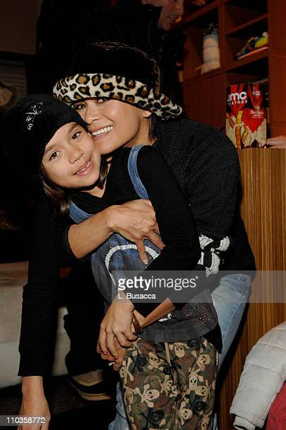 Actress Nia Peeples at the Hollywood Life House on January 21 2008 in Park City Utah