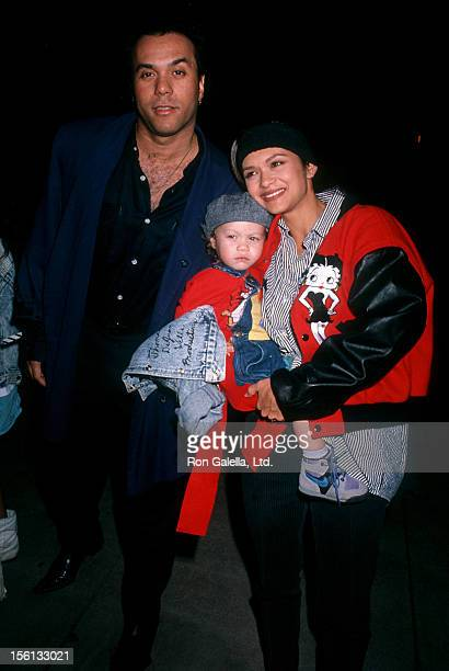 Nia Peeples with her ex- husband Howard and son Christopher during the year