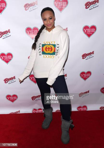 Actress Nia Sioux attends YSBNow Holiday Dinner and Toy Drive at Buca di Beppo CityWalk on December 05 2018 in Universal City California
