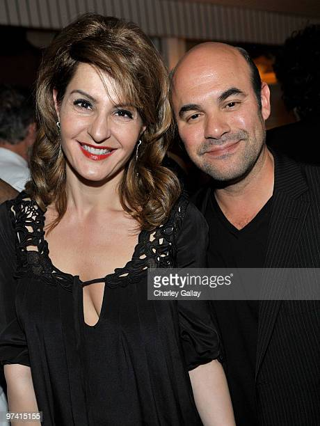 Actress Nia Vardalos and actor Ian Gomez attend Artists for Peace and Justice hosted by Vanity Fair and Brioni held at Bar Nineteen 12 on March 3,...