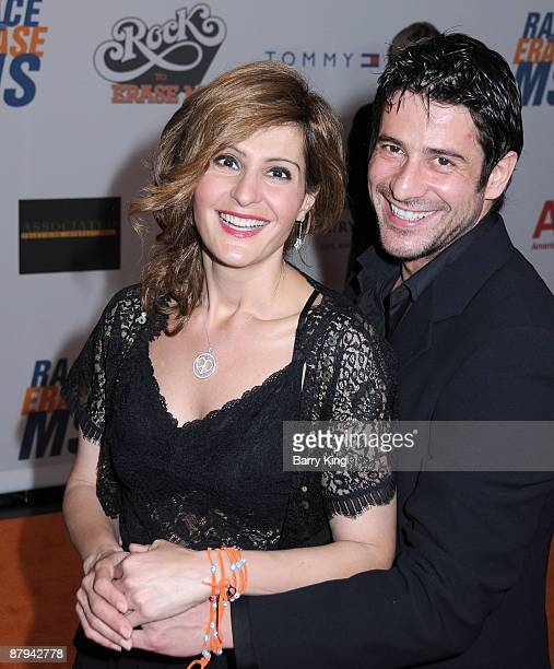 Actress Nia Vardalos and Alexis Georgoulis arrive at the 16th Annual Race to Erase MS Event 'Rock to Erase MS' at the Hyatt Regency Century Plaza...