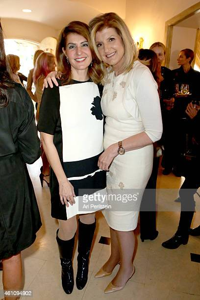 Actress Nia Vardalos and author Arianna Huffington attend as Arianna Huffington hosts a special lunch at home for Jennifer Aniston to celebrate CAKE...