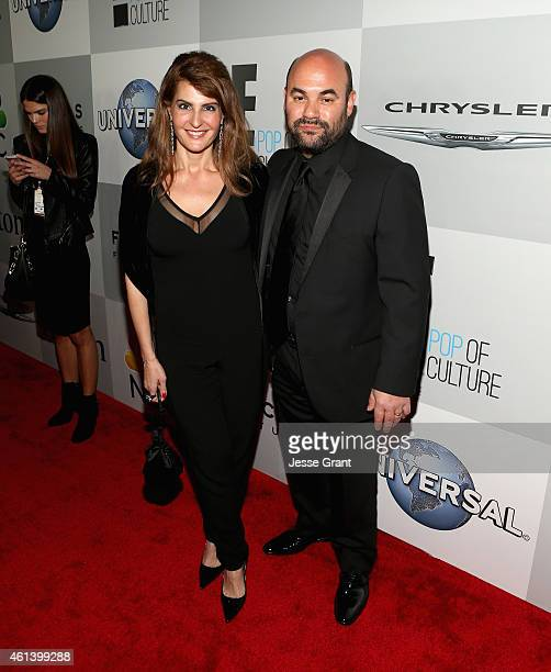 Actress Nia Vardalos and Ian Gomez attend Universal NBC Focus Features and E Entertainment 2015 Golden Globe Awards After Party sponsored by Chrysler...