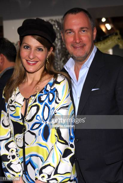 Actress Nia Vardalos and Vanity Fair publisher Edward Menicheschi attend the Dior and Vanity Fair launch of BRANDAID Foundation held at Environment...