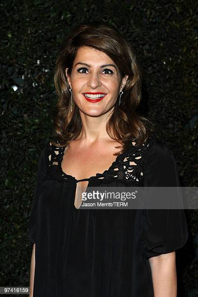 Actress Nia Vardalos arrives at Global Green USA's 7th Annual Pre-Oscar Party at Avalon on March 3, 2010 in Hollywood, California.
