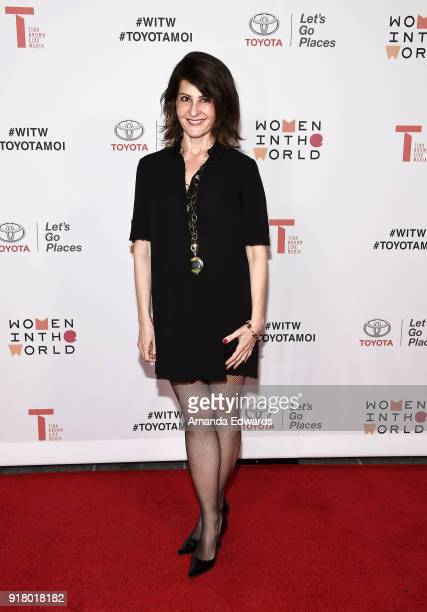 Actress Nia Vardalos arrives at the 2018 Women In The World Los Angeles Salon at NeueHouse Hollywood on February 13 2018 in Los Angeles California