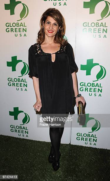 Actress Nia Vardalos arrives at the 7th Annual Global Green USA Pre-Oscar held at the Avalon on March 3, 2010 in Hollywood, California.