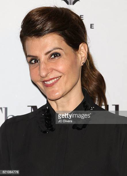 Actress Nia Vardalos attends Sony Pictures Classics Los Angeles Premiere Of 'The Meddler' at Pacific Theatre at The Grove on April 13, 2016 in Los...