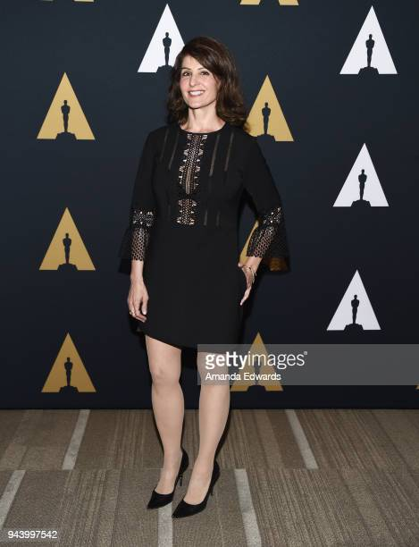 Actress Nia Vardalos attends the 25th Anniversary Screening and Conversation of 'Groundhog Day' at the Academy of Motion Picture Arts and Sciences on...