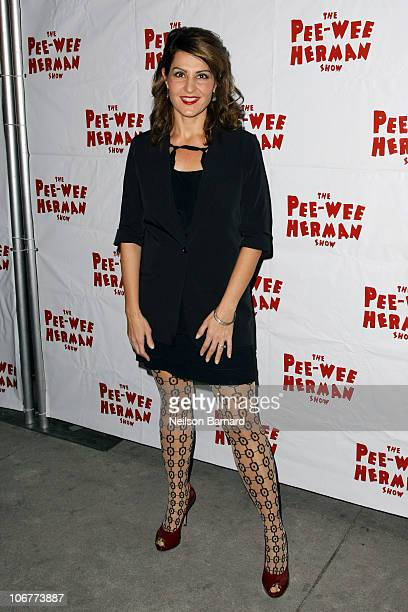 Actress Nia Vardalos attends the Broadway opening night of 'The PeeWee Herman Show' at the Stephen Sondheim Theatre on November 11 2010 in New York...