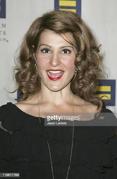 Actress Nia Vardalos attends the Human Rights Campaign's Annual Los Angeles Gala at the Hyatt Century Plaza Hotel on March 15 2008 in Los Angeles...