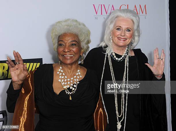 Actress Nichelle Nichols and actress Celeste Yarnall arrives for the Premiere Of 'UNBELIEVABLE' held at TCL Chinese 6 Theatres on September 7 2016 in...