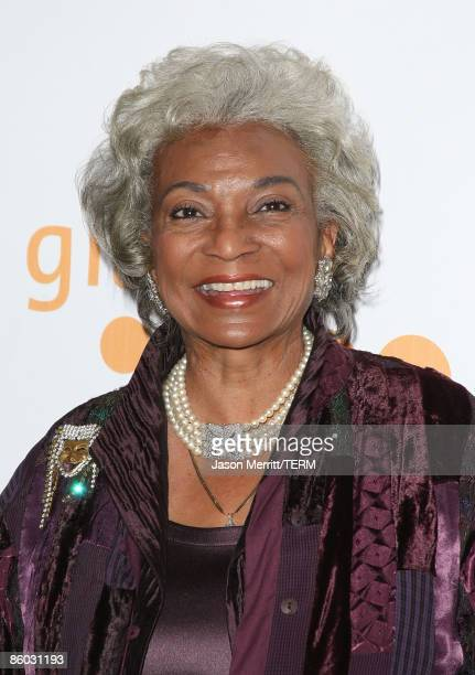 Actress Nichelle Nichols arrives at the 20th Annual GLAAD Media Awards held at NOKIA Theatre LA LIVE on April 18, 2009 in Los Angeles, California.