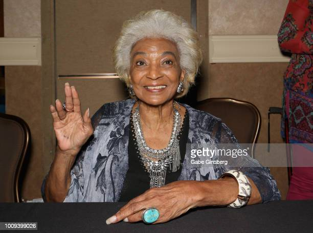 Actress Nichelle Nichols attends the 17th annual official Star Trek convention at the Rio Hotel & Casino on August 1, 2018 in Las Vegas, Nevada.