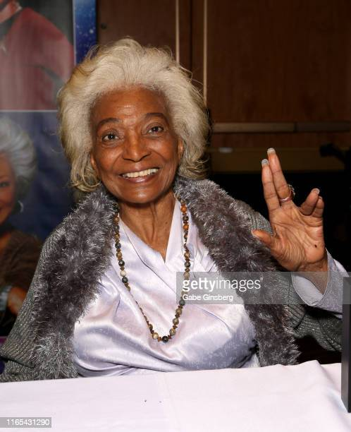 Actress Nichelle Nichols attends the 18th annual official Star Trek convention at the Rio Hotel & Casino on July 31, 2019 in Las Vegas, Nevada.
