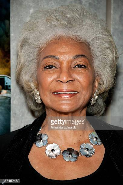 Actress Nichelle Nichols attends the 'Red Tails' VIP opening night screening at Rave Baldwin Hills 15 Theatres on January 20 2012 in Los Angeles...