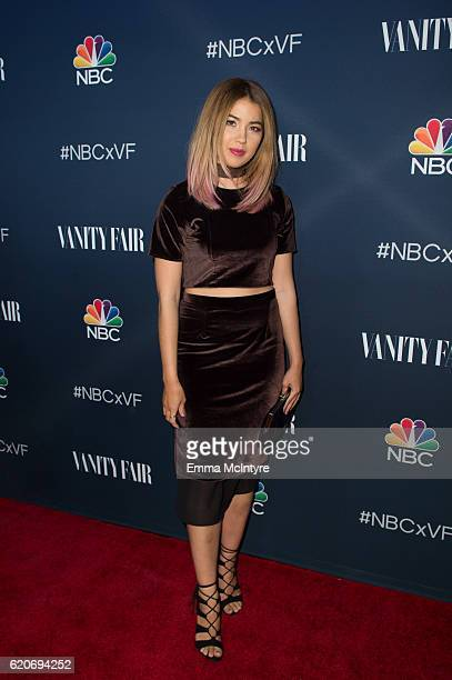Actress Nichole Bloom arrives at 'NBC and Vanity Fair toast the 20162017 TV Season' at NeueHouse Hollywood on November 2 2016 in Los Angeles...