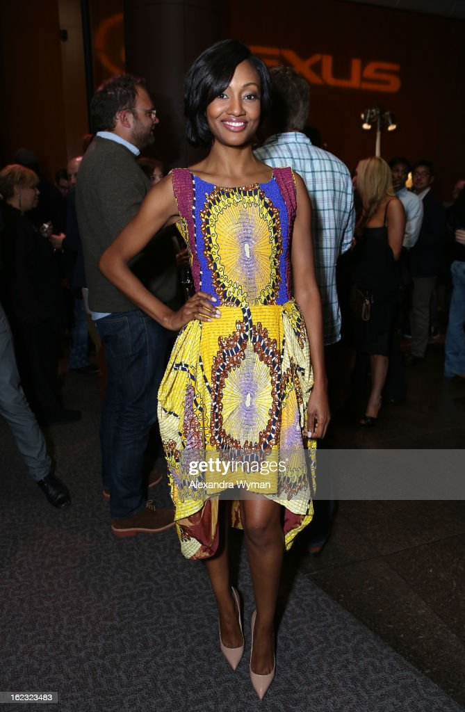 Actress Nichole Galicia attends Lexus Short Film Series 'Life Is Amazing' presented by The Weinstein Company and Lexus at DGA Theater on February 21, 2013 in Los Angeles, California.